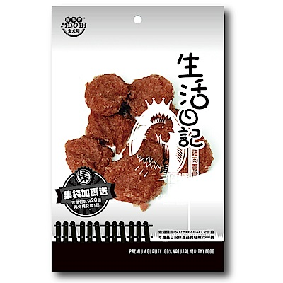 MDOBI摩多比-生活日記 狗零食 雞肉大圓片80g-3包組
