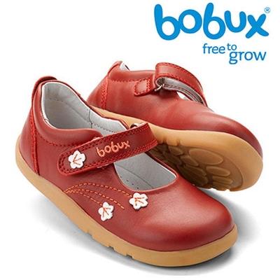 Bobux 紐西蘭 i walk 童鞋學步鞋 紅色花朵款