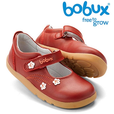 Bobux-紐西蘭-i-walk-童鞋學步鞋-紅色