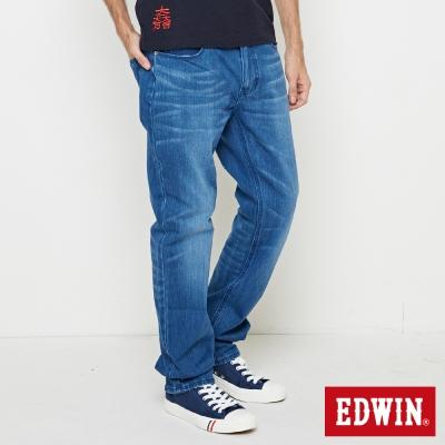 EDWIN 大尺碼直筒褲 迦績褲JERSEYS棉感直筒褲-男-漂淺藍