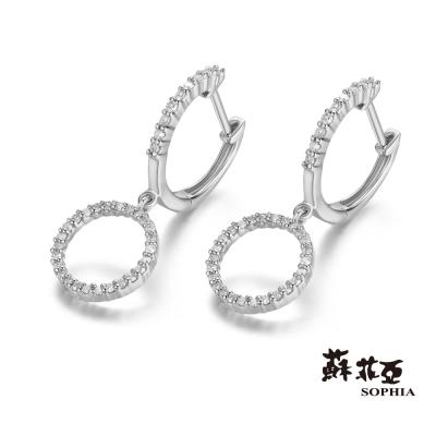 蘇菲亞SOPHIA 耳環-愛的弧度鑽石耳環(共2色)