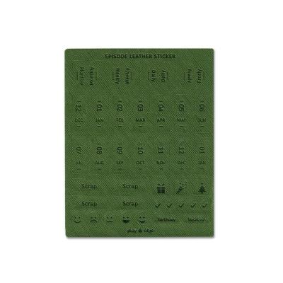 FUNZAKKA Episode皮革標籤-Green
