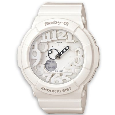 BABY-G 活潑玩味立體霓虹多彩休閒錶(BGA-131-7B)-亮眼白/43.4mm