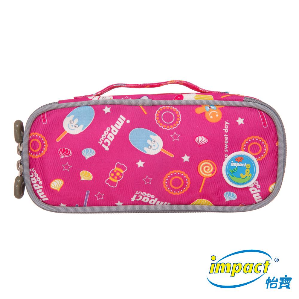 IMPACT 冰淇淋天堂-收納筆袋(大)-粉紅IM00L03PK