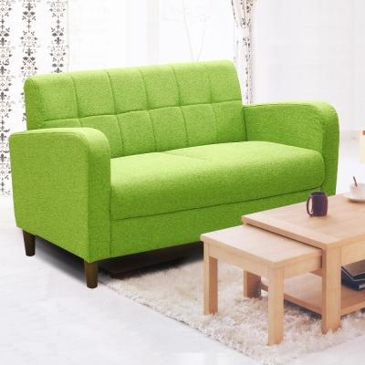 Ally愛麗-日式輕小品-Vicky-雙人座布沙發-青蘋果
