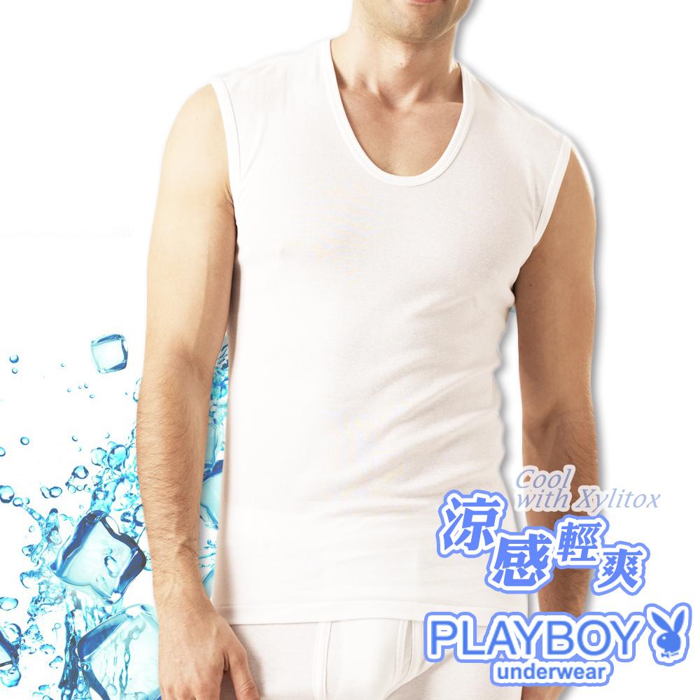 PLAYBOY 涼感無袖衫MIT製涼感纖維-單件