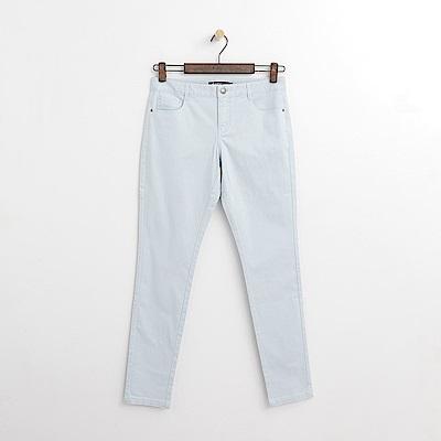 Hang Ten - 女裝 - 純色斜紋修身長褲-淺藍色