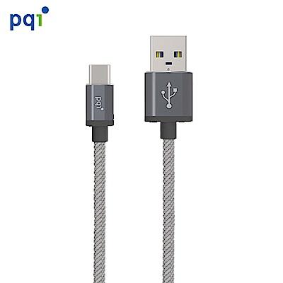 PQI C-Type C to A Metallic 180cm 強勁金屬編織線