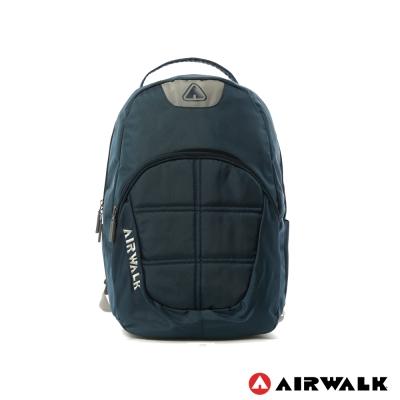 AIRWALK-防護罩-輕量純色宇宙感太空後背包-海王深藍