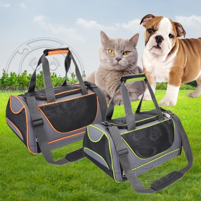 dyy》透氣便捷外出寵物包可折疊可背可提貓包狗包M號46x29x22cm