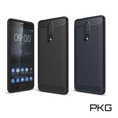PKG  Nokia 8 抗震防摔手機殼-碳纖維紋