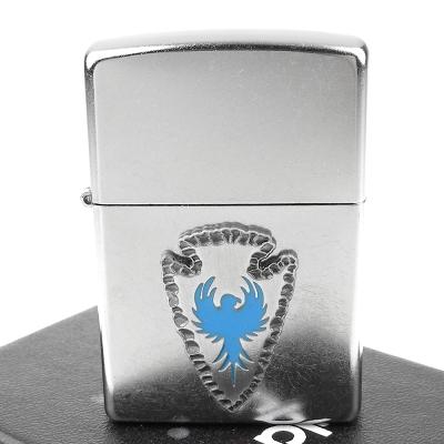 【ZIPPO】美系~Arrowhead emblem-藍鳥箭頭貼飾打火機