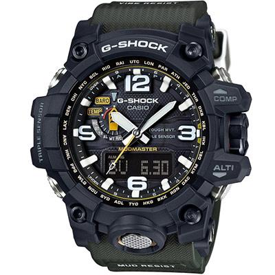 G-SHOCK 強悍征服世界耐衝擊抗震電波錶(GWG-1000-1A3)-黑/56.1mm
