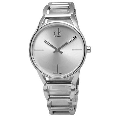 CK  Stately 端莊優雅 仕女時尚 瑞士機芯 不鏽鋼手錶-銀白色/33mm