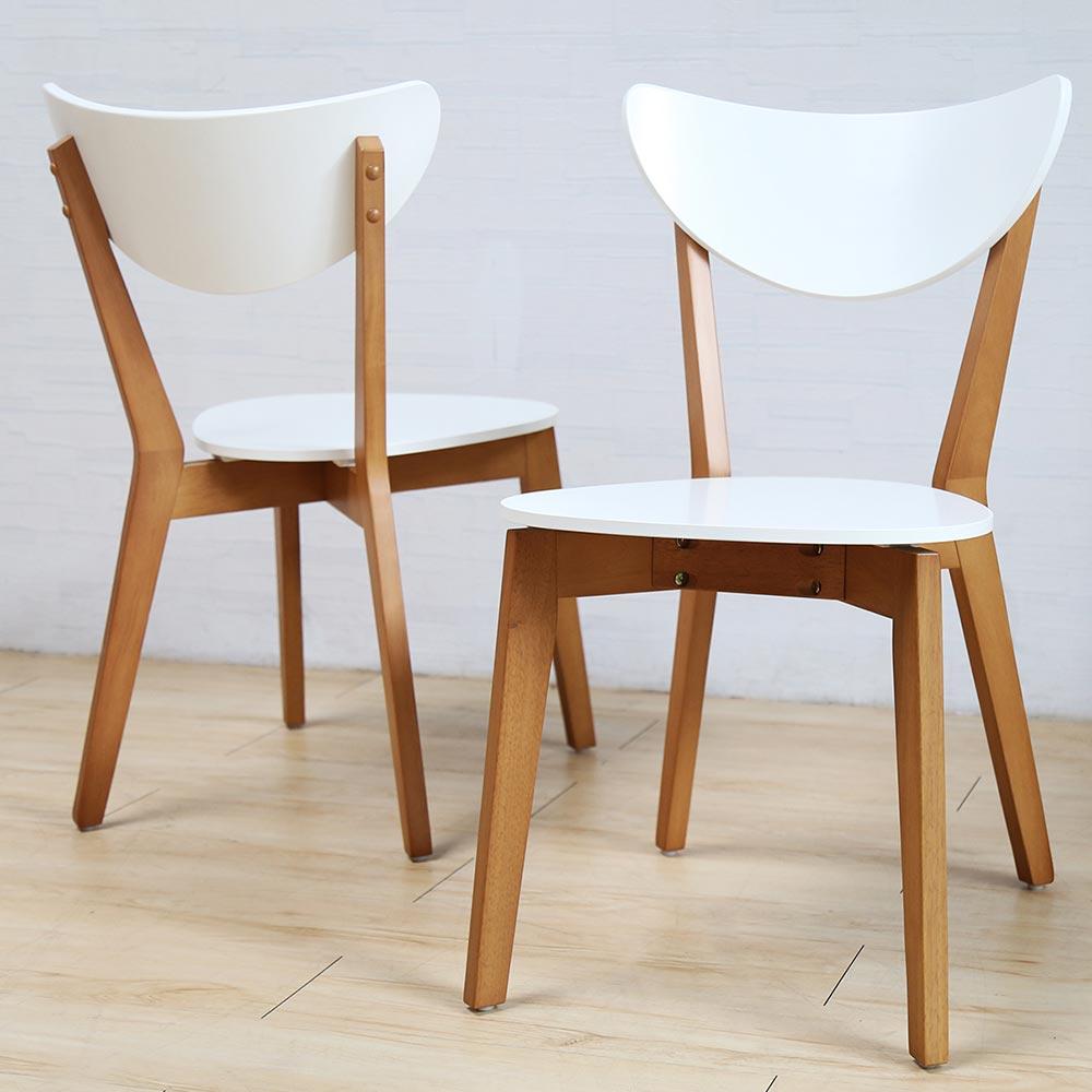 H&D LAVIN 日式木作餐椅-白色