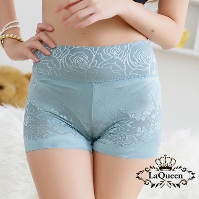 塑褲  細緻提花蠶絲無痕修飾褲-丈青 La Queen