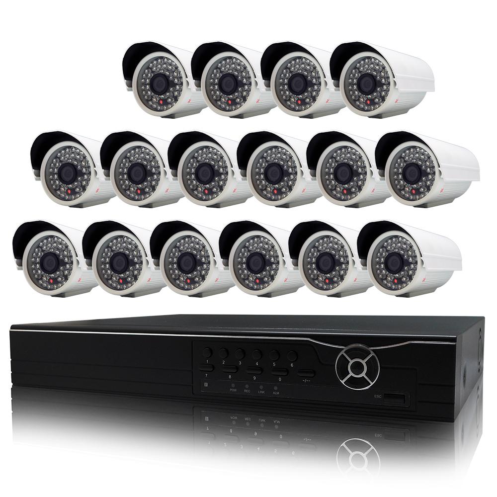 奇巧 16路AHD高清遠端監控套組(含48燈雙模切換SONY130萬攝影機x16)