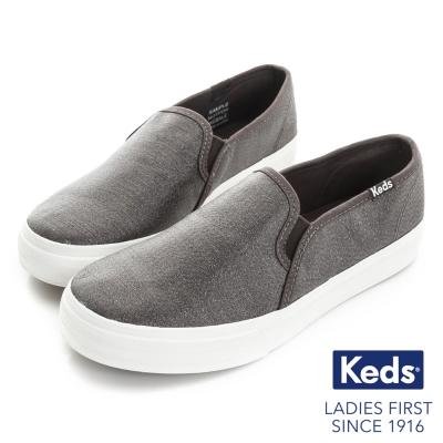 Keds 閃耀之星厚底休閒便鞋-金屬灰
