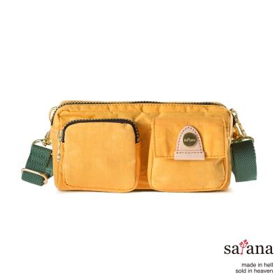 satana - 機能斜背包/手提包 - 琥珀黃