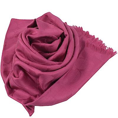 COACH LOGO圖樣經典羊毛圍巾(桃紅)