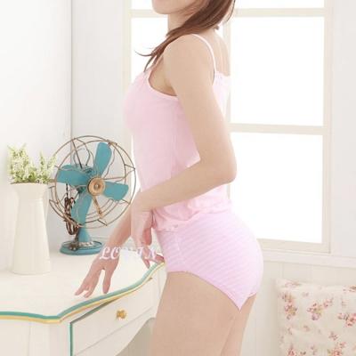 吉妮儂來 6件組竹炭底加大尺碼條紋媽媽棉褲(隨機取色)