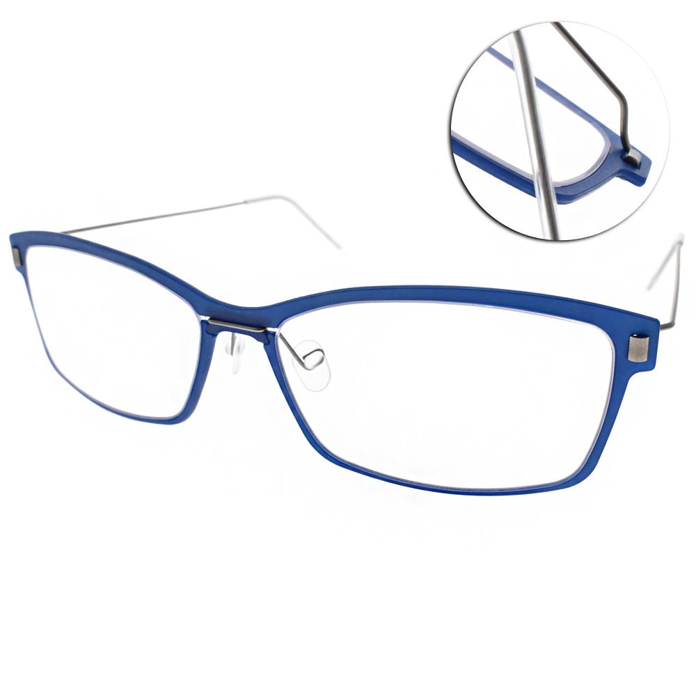 MARKUS T眼鏡 無螺絲眼鏡結構/藍-銀#M1 065 511-335