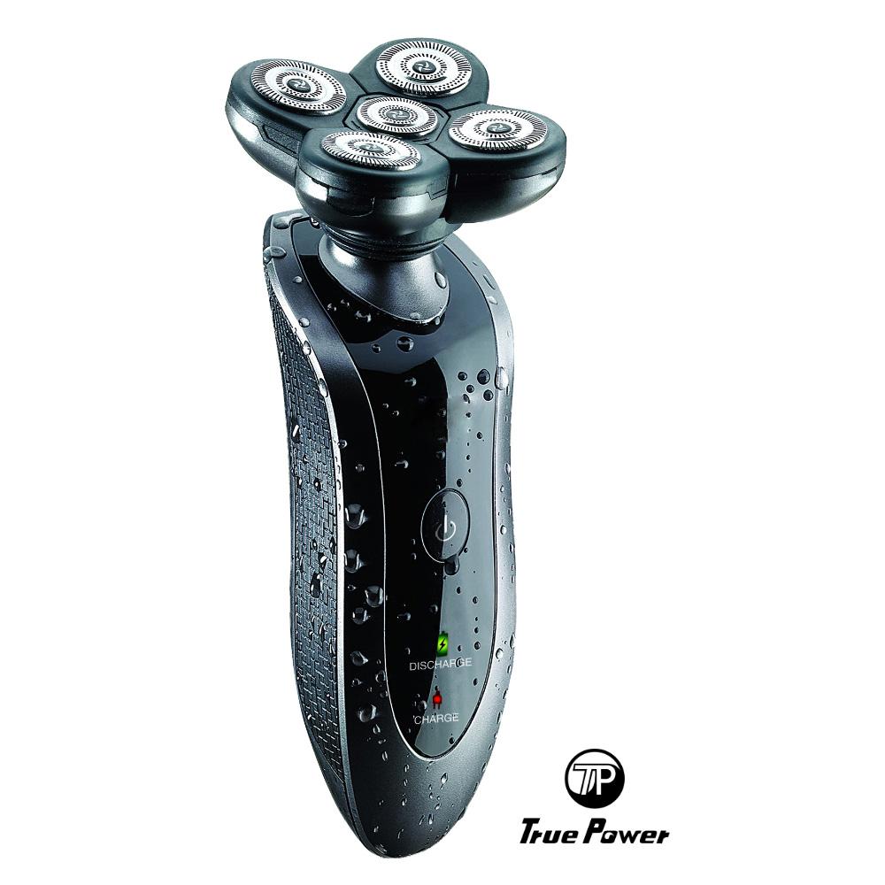 【True Power】兩用五刀頭水洗刮鬍刀(TP-S5168W)