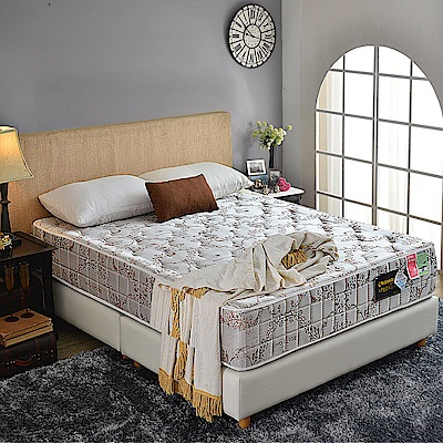 A家-小孩/長輩/體重重專用-涼感乳膠抗菌-護邊蜂巢獨立筒床墊-雙人5尺