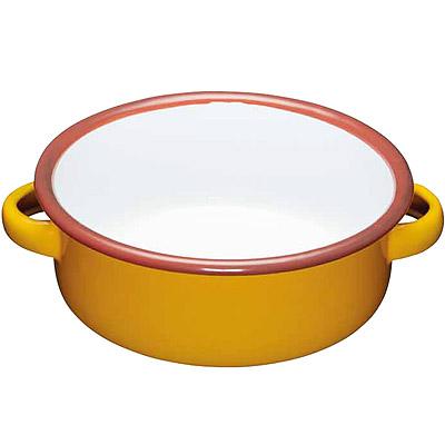 KitchenCraft 琺瑯雙耳濃湯碗(黃14cm)