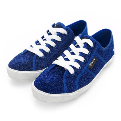 DISNEY 熱力焦點 米奇銀蔥綁帶休閒鞋-藍(女)