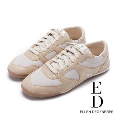 ED Ellen DeGeneres 輕量流線拼接休閒鞋-金色