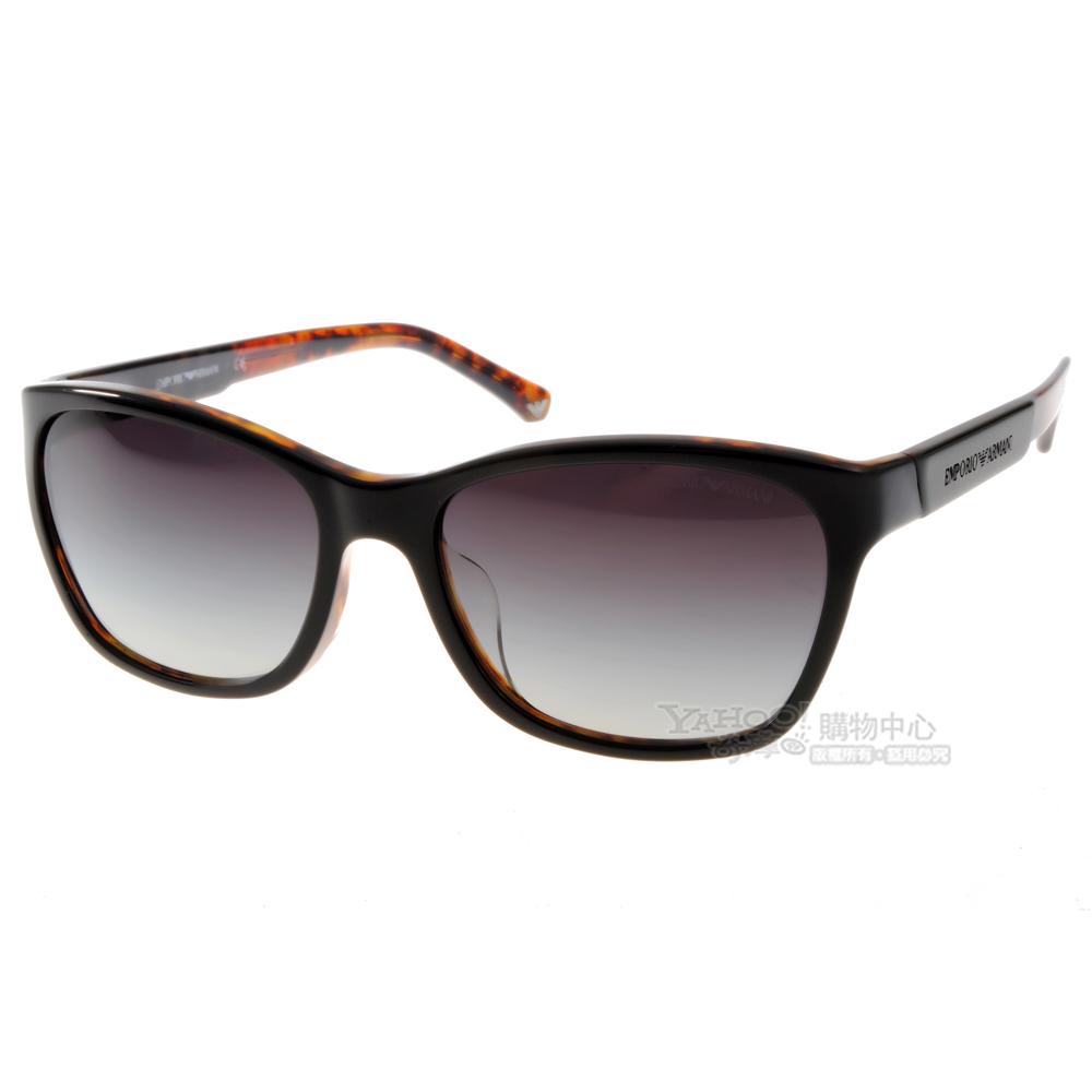 EMPORIO ARMANI太陽眼鏡 時尚潮流LOGO款/琥珀黑#EA4004F 5049