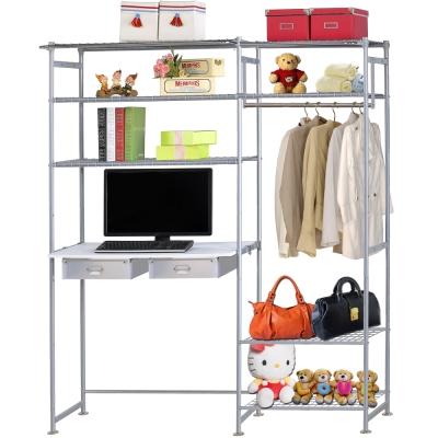 巴塞隆納-WP4型60公分+E90公分電腦桌衣櫥架(無防塵)