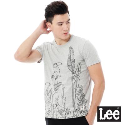 Lee  Regional圓領印花短袖T恤-男款-灰色