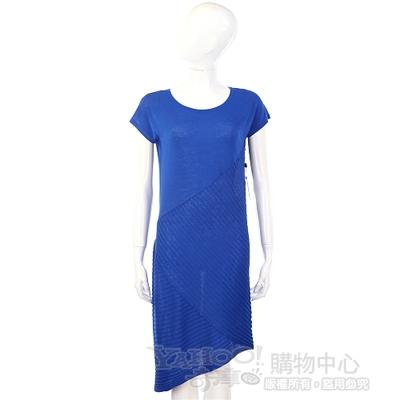 Christopher Fischer 藍色條狀織紋短袖洋裝