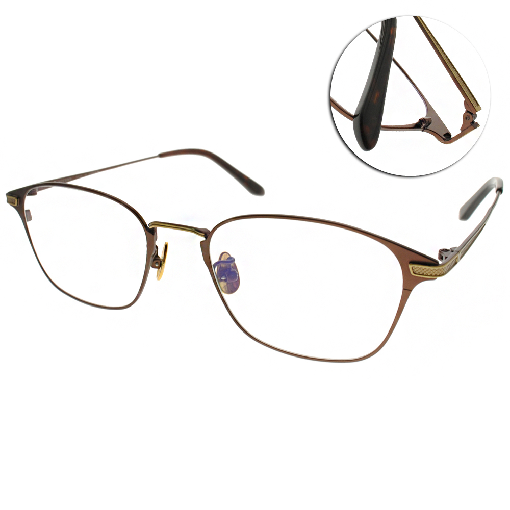 NINE ACCORD眼鏡 簡約休閒款/棕-金#PLACO ELSE2 C02