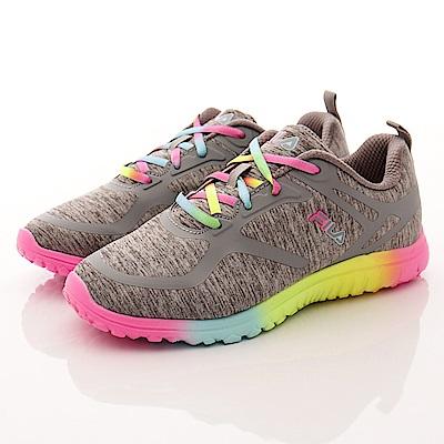 FILA 頂級童鞋 彩虹慢跑鞋款 17R298灰(大童段)T2
