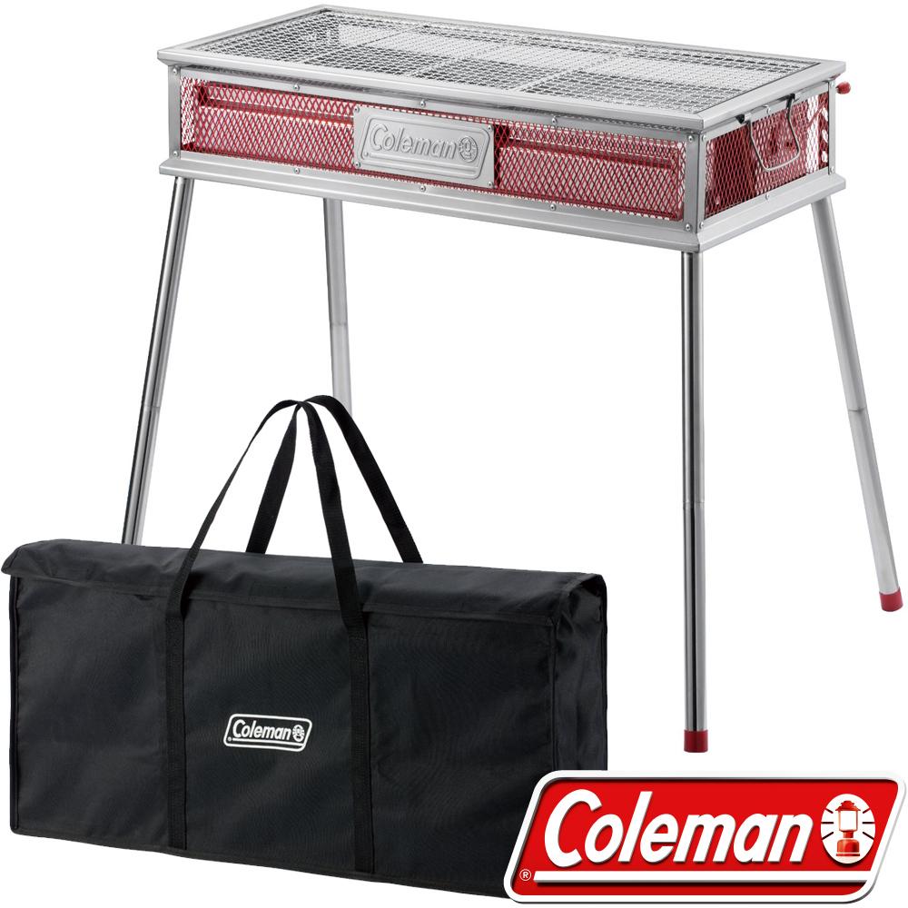 Coleman 0394+0534 Pro酷蜘蛛烤肉箱+收納袋 BBQ烤肉爐具/不鏽鋼烤肉