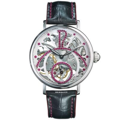 DAVOSA Grande Diva 歌蘭德女神全鏤空機絕版械錶/ 42 /白/紅鑽