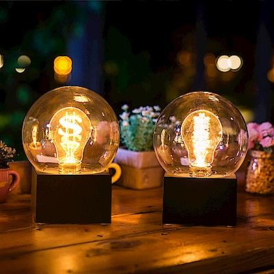 法國三寶貝  黑色遙控LED燈泡造型夜燈 兩型 錢幣鎢絲