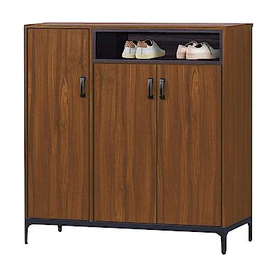 品家居 達普利3.9尺三門鞋櫃(二色可選)-116x40x119cm免組