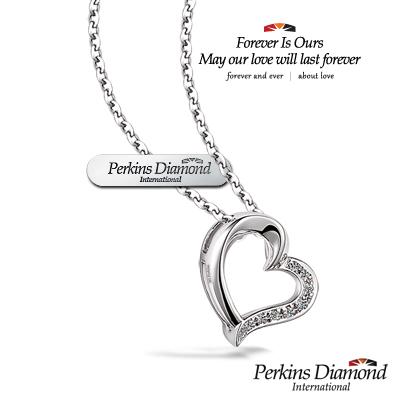 PERKINS 伯金仕 - 心形系列 鑽石項鍊