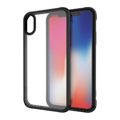 【極致防護】iPhone X 四角氣囊防摔TPU手機殼-黑