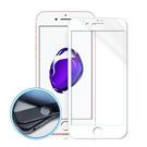 MONIA iPhone 7 4.7吋 碳纖維3D滿版玻璃膜(白)