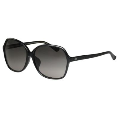 GUCCI- 時尚簡約款 太陽眼鏡 (黑/琥珀色)