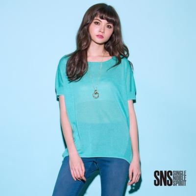 SNS 質感休閒側邊線條簡約設計短袖線衫(2色)