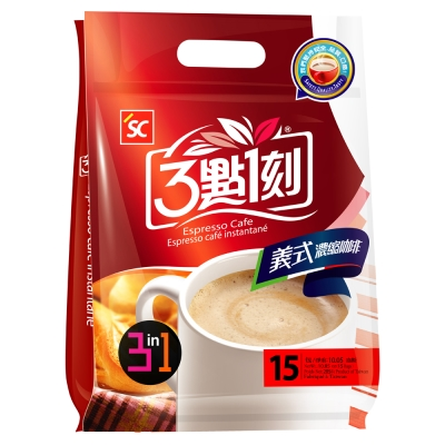 3點1刻 義式濃縮咖啡3in1(19gx15包)