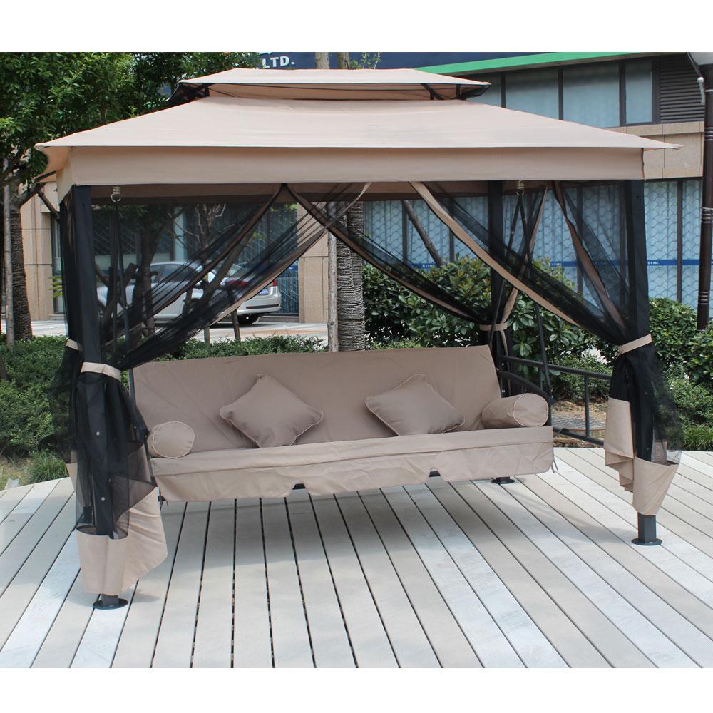 邏爵家具LOGIS-巴里島帳篷式兩用鞦韆搖椅/躺椅/吊床/休閒椅