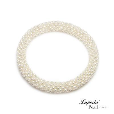 大東山珠寶 天然珍珠手環 雪白禮讚歐美古典編織珠寶