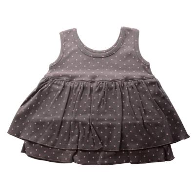 Anna Nicola-日本製-水玉點點雙層小洋裝(灰)